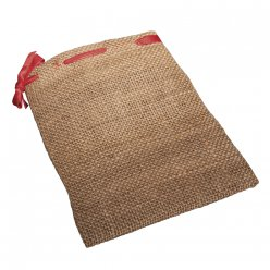 sachets jute cordon rouge 14x18 cm 2 pieces