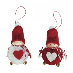 kit lutin  pompon a suspendre 2 pieces