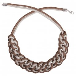 kit collier paracord gris et taupe 21 cm