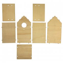 kit en bois nichoir 11x105x17 cm en 8 pieces fsc
