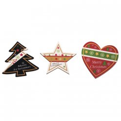 miniatures adhesives en bois merry christmas 9 pieces