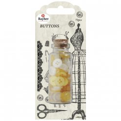 boutons couture 72 pieces jaune soleil