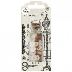 boutons couture 72 pieces beige