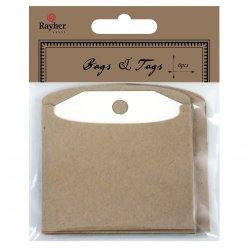 tags with bags 75x75 cm 6 pieces
