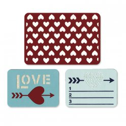 thinlits die set 3pk  love