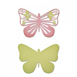 sizzix thinlits dies  butterfly flower 2 pieces