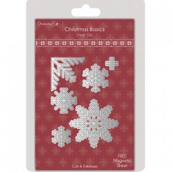die decoupe et embossing snowflakes christmas basics