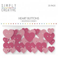 plastic buttons hearts