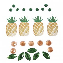 sticker decoatif 3 d 05  35 cm tropic  ananas