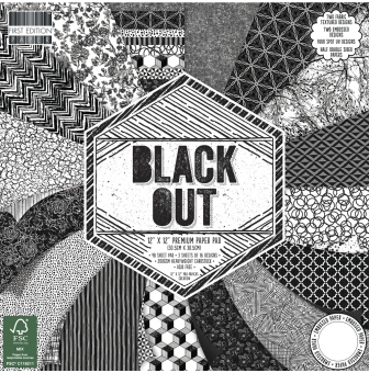 scrap  block black out 48 feuilles 305x305 cm