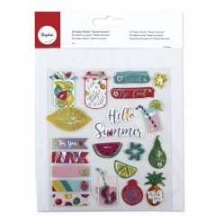 3d sticker en papier sweet summer