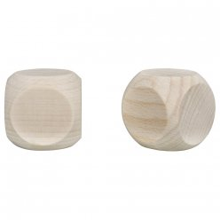 cubes en bois 40x40mm lot de 2pces