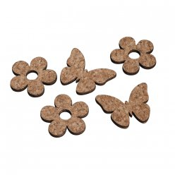 miniatures en liegebois fleurpapillon 12 pieces