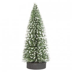 sapin decoratif enneige 10 cm 4 pieces
