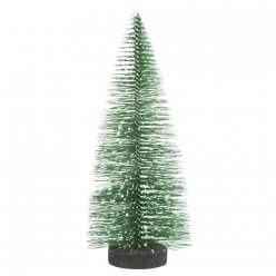 sapin decoratif enneige 15 cm 3 pieces