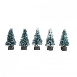 sapin decoratif enneige 38 cm par 10 pieces