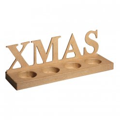 support bougies xmas 32x9x10 cm