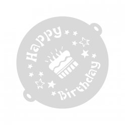 cake stencil happy birthday 26 cm o