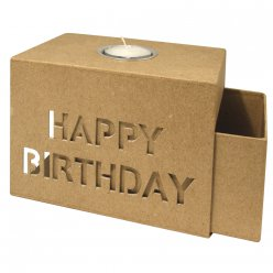 boite coulissante 15x105x10cm happy birthday