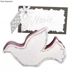 porte cartes  table colombes nuptiales 8 cm