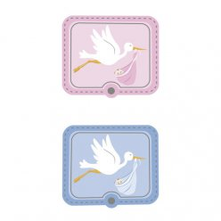 stickers 3d 6pieces cigogne 4x33cm