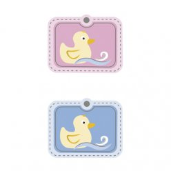 stickers 3d 6pieces petit canard 4x33cm