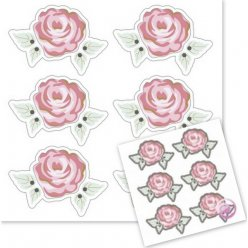 decor autocollant 3 d romantic rose 6pc