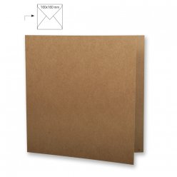 carte carree double en kraft 150mm