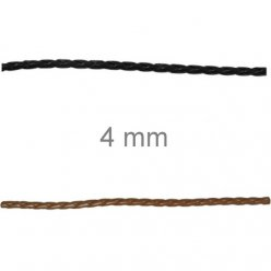 bande tressee en cuir veritable 4mm o x1 m
