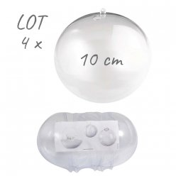 lot de 4 boules separables 10cm o