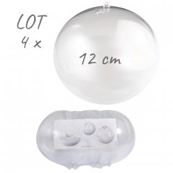 lot de 4 boules separables 12cm o