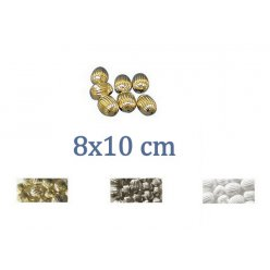 perle a rainures olive 8x10 mm