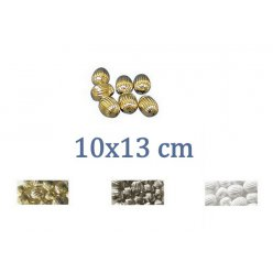 perle a rainures olive 10x13 mm