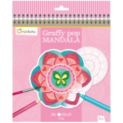 avenue mandarine malbuch graffy pop mandala girl