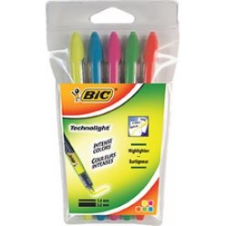 bic surligneur technolight etui de 5 technique liquid ink