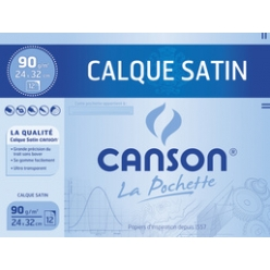 canson papier calque satin 240 x 320 mm 90 gm2