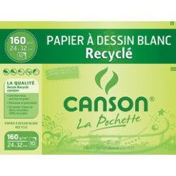 papier dessin recycle blanc a3 160 gm2 8f