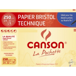 canson papier bristol technique 240 x 320 mm 250 gm2