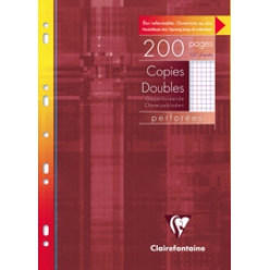 clairefontaine copies doubles perforees a4 5x5 avec marge