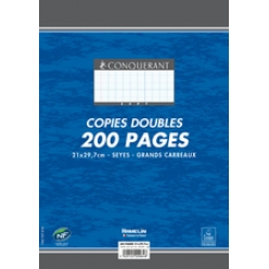 conquerant sept copies doubles a4 seyes 200 pages