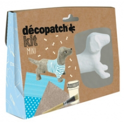 decopatch pappmache set dackel 5 teilig