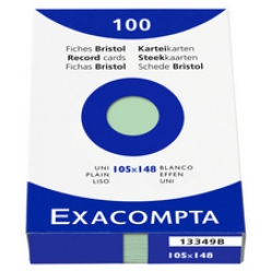 exacompta fiches bristol a5 quadrille couleurs assorties