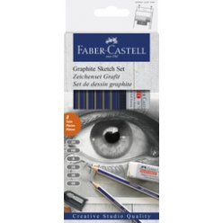 faber castell set d esquisse goldfaber 8 pieces