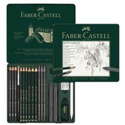 set d esquisse et dessin pitt graphite 18 pieces