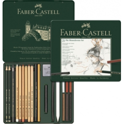 faber castell pitt monochrome set medium 21 teiliges etui
