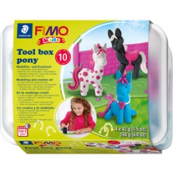 fimo kids kit de modelage tool box pony 10 pieces