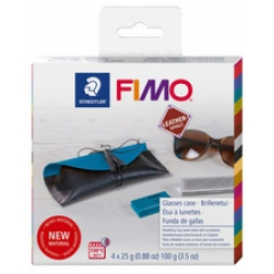 fimo effect leather kit de modelage etui a lunettes