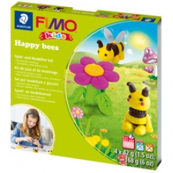 fimo kids kit de modelage form et play happy bees niveau 3