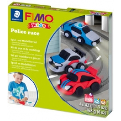 fimo kids kit de modelage form et play police race niveau3
