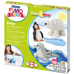 FIMO kids kit de modelage Forme & Play Polar, niveau 2
